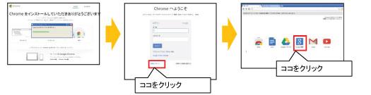 GoogleChromeインストール